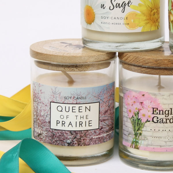 Queen of The Prairie Candle, Soy Candles Handmade, Scented Candle Jar. Calm and Relaxing Fragrance