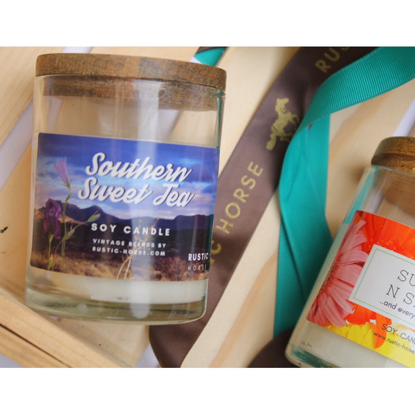 Southern Sweet Tea Fragrance Soy Wax Scented Candle Jar.