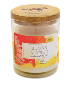 Sugar n Spice Candle, Soy Candles Handmade, Scented Candle Jar.