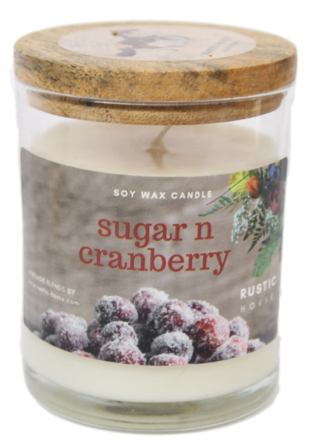 Sugar n Cranberry Fragrance Soy Wax Scented Candle Jar.