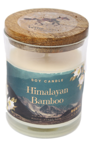 Himalayan Bamboo Soy Candle, Soy Candles Handmade, Scented Candle Jar. Calm and Relaxing Fragrance