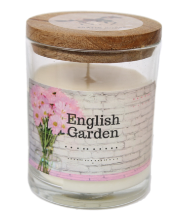 English Garden Soy Candle, Soy Candles Handmade, Scented Candle Jar. Calm and Relaxing Fragrance