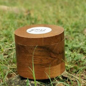 100ml Storage wood and glass container.Sustainable Biodegrade-able Planet Friendly