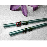 Flora Collection (Aquamarine) Glass Straws