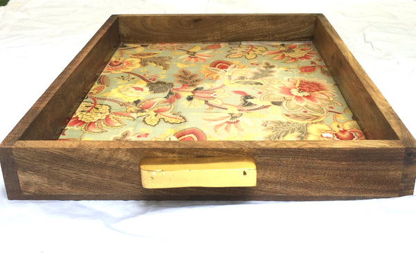 Premium Wood Tray with brass handles - Factoh