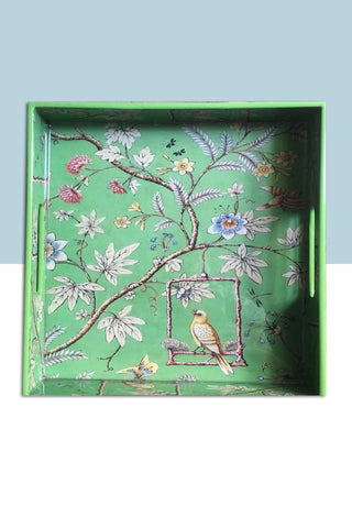 New Bird Green  Tray/ Serving Tray/  Home decor Tray . - Factoh