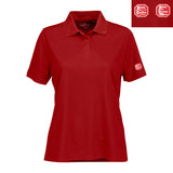 Women's Solid Mesh Tech Polo