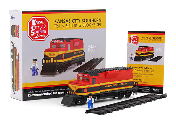 AVAILABLE NOW! - Custom Kansas City Southern Building Block Train set