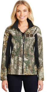 Ladies Camo Soft Shell Jacket