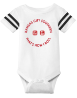 Infant Train Tracks Onesie