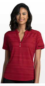 Ladies Strata Textured Henley