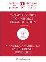 Canadian Guide to Uniform Legal Citation, 9th ed