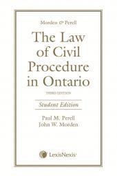 The Law of Civil Procedure in Ontario, 3rd ed