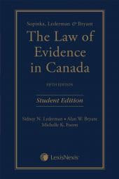 The Law of Evidence in Canada, 5th ed
