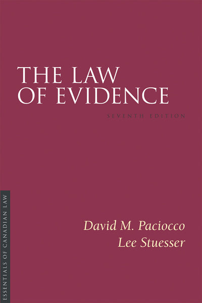 The Law of Evidence, 7th ed