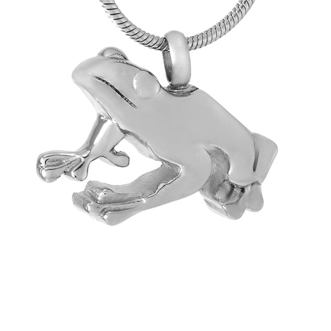 Stainless Steel  frog Cremation Pendant Animal Ashes Holder Keepsake Memorial Urn Jewelry For pet