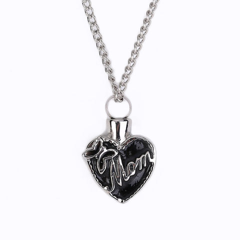 Unisex Pendant to remember mom cremation necklace mom in heart keepsake jewelry