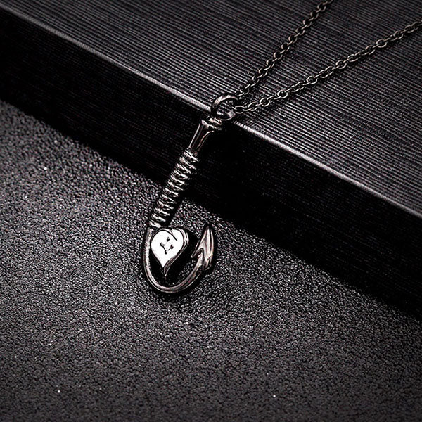 Stainless CZ Steel Fish Hook Necklace Memorial Cremation Urn Necklace Locket Pendant Bone Ash Jewelry For Men Women Pendant