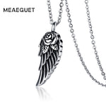 Stainless Steel Rose Flower Wing Ash Pendant Cremation Jewelry