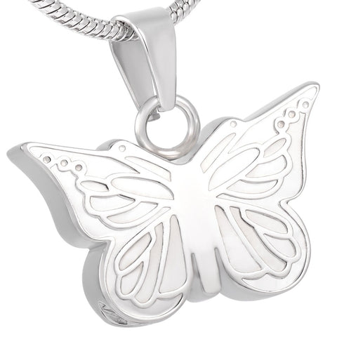 Stainless Steel Butterfly Cremation Jewelry