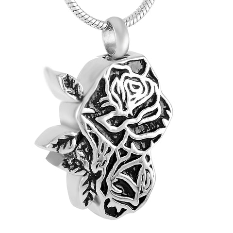 Stainless Steel Rose Flower Cremation Jewelry