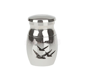 Stainless Steel Cremation Mini Urn Ash Memorial Container Keepsake