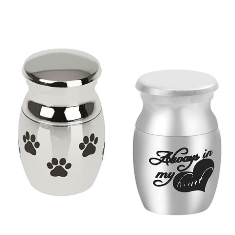 2 Pieces Mini Keepsake Urn Miniature  Cremation Urns