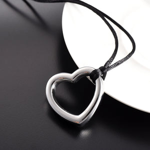 Hollow Heart Cremation Pendant Memorial Jewelry