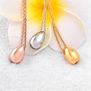 Stainless Steel Tear Drop Necklace  Ashes Cremation Jewelry