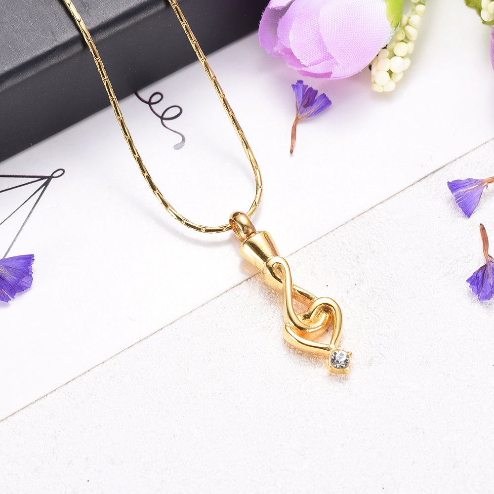 "Women Necklace"" Infinity Love ""Cremation Urn Pendant Charm Memorial Jewelry for Loved  One"