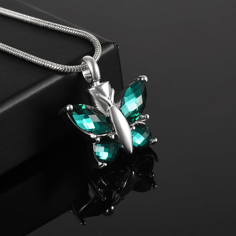 Mutil-Colored Crystal Butterfly Keepsake Exquisite Cremation Jewelry