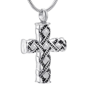 Cremation Pendant Necklace  Vintage Cross Urn Locket Cremation Jewelry
