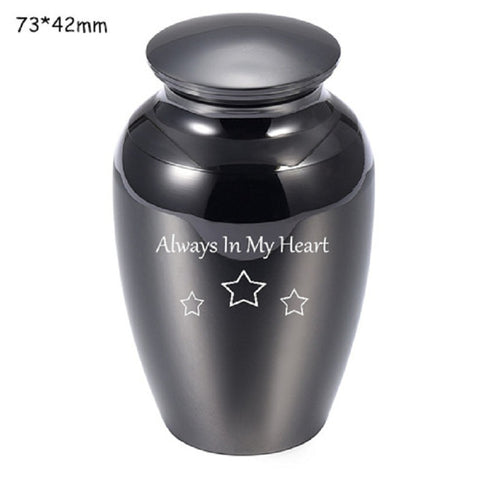 Mini Cremation Urns Mirror Stainless Steel Jars Keepsake