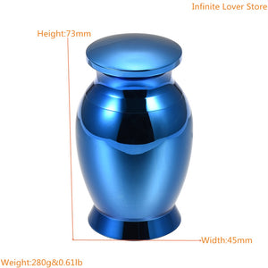 Stainless Steel Mini Cremation Urn for Human Ashes