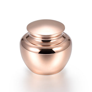 Apple Shape Mini Cremation Urns Rose Gold Stainless Steel Keepsake