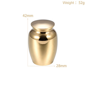 Memorial Stainless Steel Cremation Mini Urn