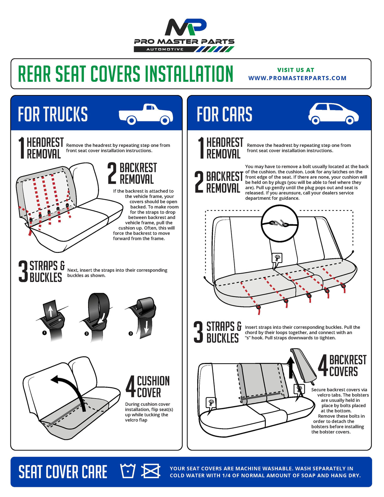 Custom-Fit Seat Covers Installation