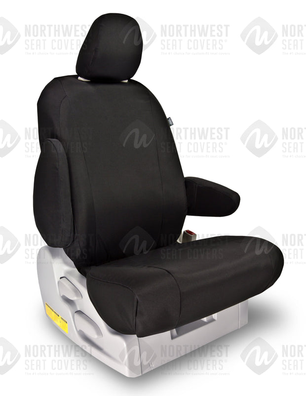 Black Atomic Polypro Seat Covers | Durable Custom Seat Protection - Pacific Restyling