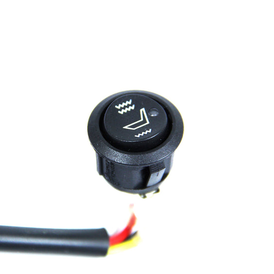 Universal Round Rocker - Style Dual Temperature Seat Heater Switch