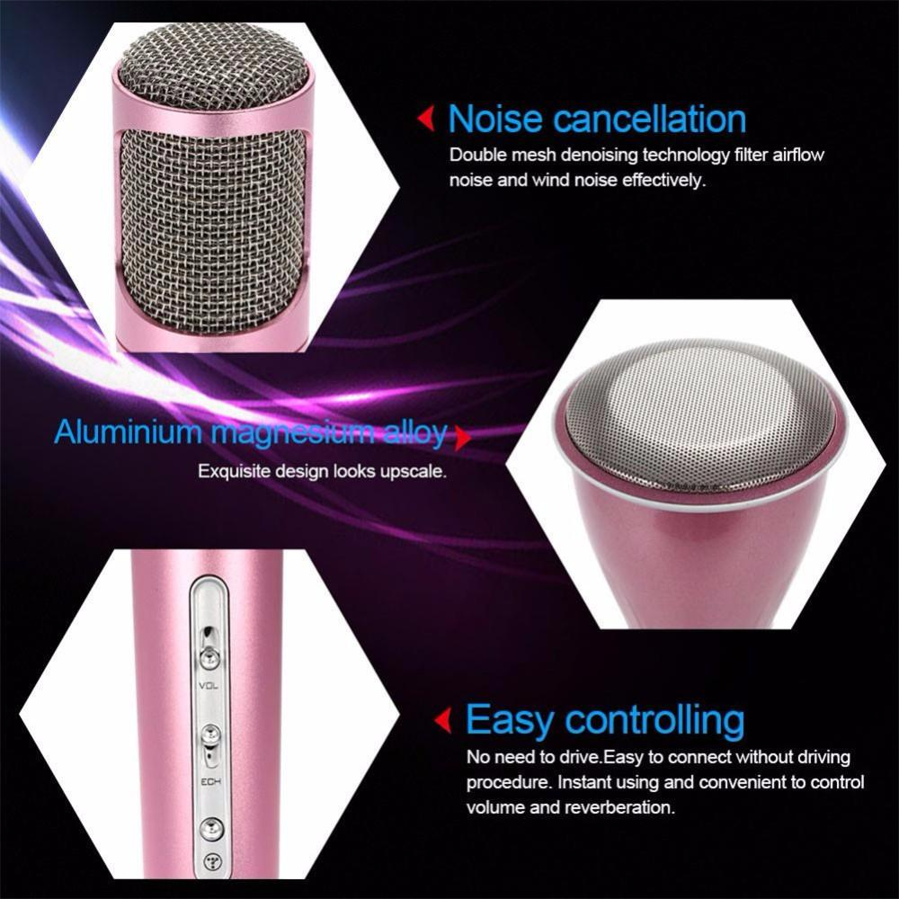 Bluetooth Karaoke Microphone for IOS and Android