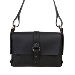 Black Paguro Reina Recycled Rubber Eco Vegan Handbag