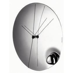 Bugatti Aqua Stainless Steel Mirror Clock
