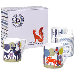 Wild & Wolf Mugs Set of 4