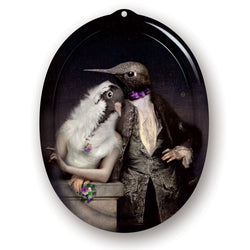 Ibride Galerie De Portraits The Lovebirds Oval Tray
