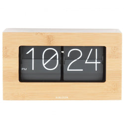 Karlsson Bamboo Boxed Flip Table Clock