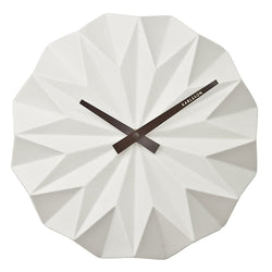 Karlsson Origami White Wall Clock