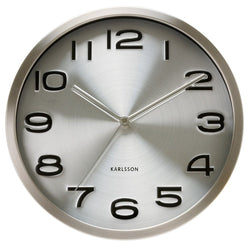 Karlsson Silver Maxie Steel Wall Clock