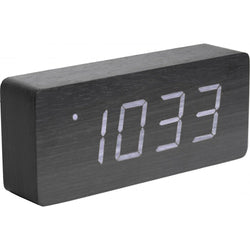 Karlsson Tube Black Alarm Clock
