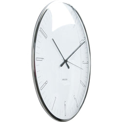 Karlsson White Dragonfly Dome Glass Wall Clock