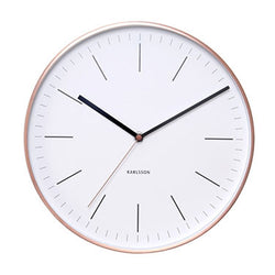 Karlsson Minimal Copper Steel Wall Clock